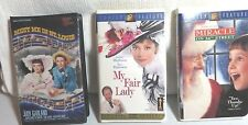 Lot 0F 3 Collectible Vhs Tapes My Fair Lady Meet Me In St Louis Miracle On 34Th