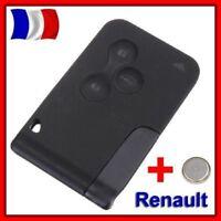 COQUE PLIP CLE CARTE POUR RENAULT MEGANE II ET SCENIC 2 CLIO 3 BOUTON +Lame+Pile