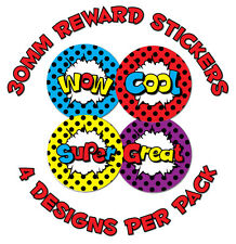 144 x 'Wow' and exlamations - 30mm Children Reward Stickers - Schools, Teachers