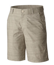 NEW COLUMBIA TAN SHORTS MENS 34 STYLE WASHED OUT SHORTS LIGHTWEIGHT FREE SHIP!