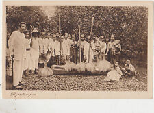 Batavia,Indonesia,Netherlands East Indies,Women Pounding Rice,Ethnic,c.1909