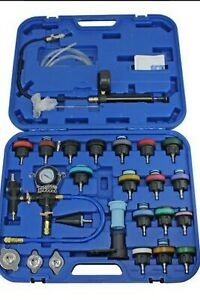 US SNAP MAC 28pc Coolant Radiator System Pressure Tester, Refill Kit Purge