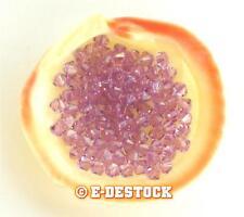 10 Perles Toupies 3mm cristal Swarovski - LIGHT AMETHYST
