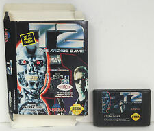 T2 : THE ARCADE GAME (1992) SEGA GENESIS TERMINATOR 2 w/ RARE BOX **TESTED**