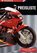 Honda Motorrad Preisliste 1.10.94 Africa Twin VF 750 C Bali SJ 50 Dax ST  1994