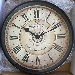 AVEKI - Silent Clock 12 Inch Battery Operated Stylish Elegant, Langford Cellars