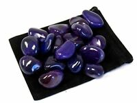 1/2 lb Tumbled Purple Agate Bulk Wholesale Lot Natural Polished Stone Zentron