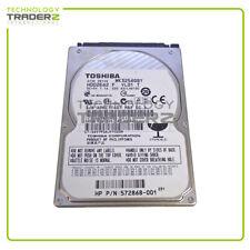 "572868-001 HP Toshiba 320GB 7.2K SATA 3G 16MB 2.5"" HDD MK3256GSY HDD2E62 *Pulled"
