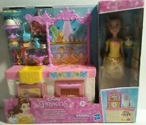 Disney Princess Belle's Royal Kitchen, Fashion Doll and Playset - New