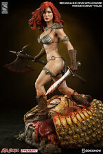 SIDESHOW RED SONJA SHE-DEVIL WITH A SWORD PREMIUM FIGURE STATUE EXCLUSIVE ~NEW~