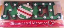Mr Christmas Light Up Illuminated Marquee Word  Noel Holiday Christmas Decor 5''