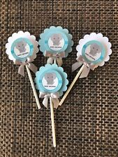 Elephant cupcake toppers/ elephant  theme/ elephant baby shower cupcake toppers