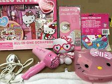 Lot Sanrio Hello Kitty home decor hair dryer plush doll scrapbook container