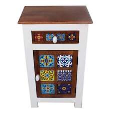 Contemporary Indian Moroccan Nightstand End Table Corner Table