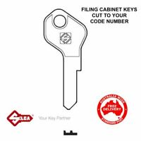 BOSCO Filing Cabinet & Tambour Keys -Key Cut To Code Number-FREE POST!