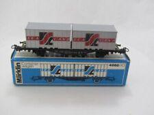 1972-77 MARKLIN HO 4668 SEA LAND CONTAINER CAR NRMINT IN BOX !!