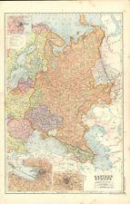 1920s MAP - EASTERN EUROPE, RUSSIA, UKRAINE, BULGARIA,ROMANIA,CAUCASUS