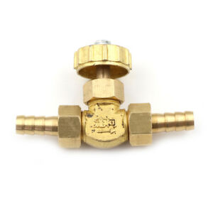 1PC 8mm ID Hose Barb Brass Needle Valve for Gas Max Pressure 0.8 Mpa qoEXWIXIHDL