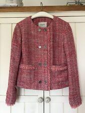 LK BENNETT Orson Pink Tweed Jacket, UK 12, EU40, RRP £275