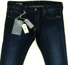 G Star Raw Attacc Straight Dark Indigo Blue Jeans Men 34x32  A12-5
