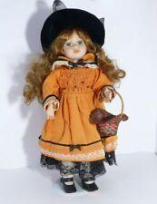 poupée de Collection Poupon de collection fille orange robe
