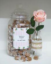 300g Retro Traditional Wrapped Vanilla Fudge Wedding Sweets Candy Party Bags