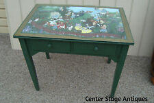 59406 Hand Painted Custom Built Alice in Wonderland Console Table Desk