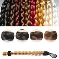 Women Synthetic Hair Plaited Elastic Headband Braided Hair Band Hair Accessories
