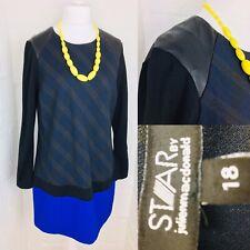 Designer Star by Julien Macdonald Size 18 Shift Navy Party Ladies Office Dress L