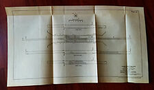 1910 Panama Canal Engineering Diagram Concrete Progress Sheet San Miguel Locks