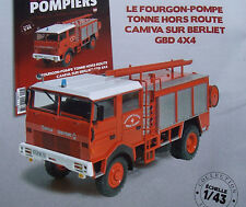 Camion Pompier BERLIET GBD 4x4 Fourgon Pompe Hors Route CAMIVA  1/43 Neuf