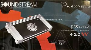 NEW Soundstream PX2.420 420W RMS, Picasso Series 2-Channel Car Audio Amplifier