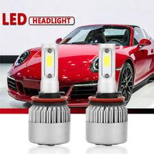 2PCS LED Headlight Car Kit H11 H9 H8 200W 20000LM COB Hi/Lo Beam Bulbs 6500K