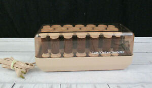 Clairol Hair Rollers Velvet Flock Hot Rollers Curlers Model FH-20 Clips Pageant
