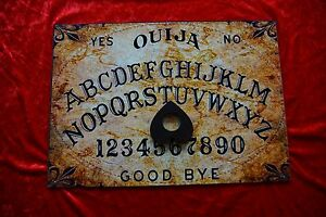 Wooden Ouija Board Bizarre Magick Old Worlde & Planchette Instructions A3 Large