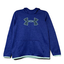 Under Armour Youth Girls Blue Marled Loose Fit Hoodie Sweatshirt Size Large