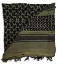 100% Cotton Military Grade Shemagh Headscarf Keffiyeh Sniper Veil Olive & Black