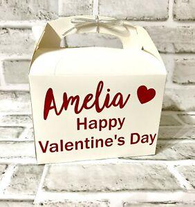 Personalised Valentines Day Gift Box Bag Hamper Present White