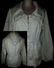 A/X ARMANI EXCHANGE Womens Button/Zip Hoodie Light Weight Jacket Coat XS Beige