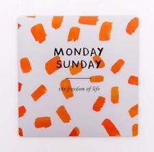 Tapis de Souris Motif imprimé néoprène antidérapant 21 x 21 cm (Blanc et Orange)
