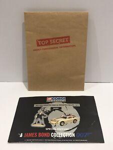 1997 Corgi James Bond Gold Aston Martin DB5 04201 Certificate + Envelope
