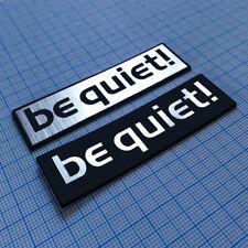 BE QUIET! - Metallic Badge Sticker Set (2 pieces)