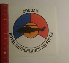 Aufkleber/Sticker: Royal Netherlands Air Force Cougar (03011773)