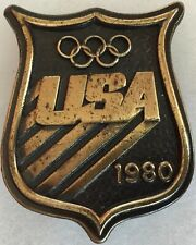 Olympics USA 1980 Souvenir Belt Buckle NICE!@@! Bergamot Brass Works