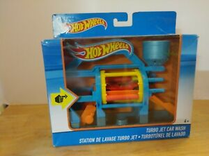 Mattel Hot Wheels Turbo Jet Car Wash Playset