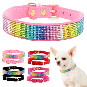 Puppy Cat Dog Necklace Collar Rhinestone Bling For Small Pet Chihuahua Yorkshire