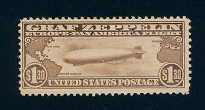 drbobstamps US Scott #C14 Mint Hinged OG Sound Graf Zeppelin Air Mail Stamp
