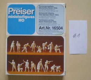 Preiser Military 16504: Panzergrenadiere 1:87 (Wehrmacht - Neu & OVP) #1