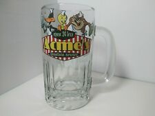Vintage 1993 Warner Bros Root Beer MUG Glass CUP STEIN Daffy Duck Taz Tweety EUC