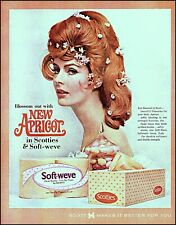 1964 Red haired woman face Scott tissue scotties vintage photo print ad adl83